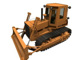 Hydraulic bulldozer 3d preview