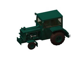 Aircraft tractor 3d model preview