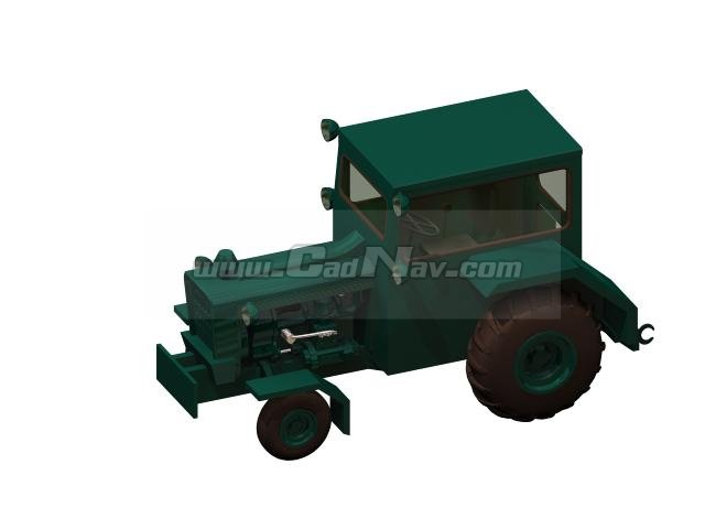 Aircraft tractor 3d rendering