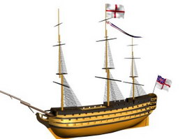 Royal Navy HMS Victory 3d model preview