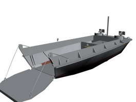 Landing Craft Vehicle And Personnel 3d model preview