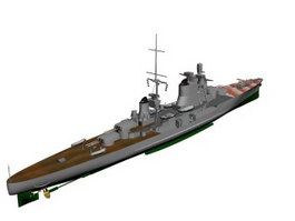 Italian cruiser Pola 3d preview