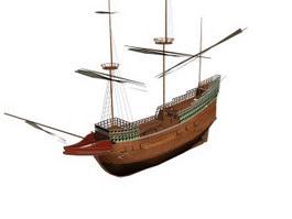Mayflower Dutch cargo fluyt 3d preview