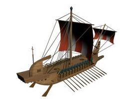 Greek sloop Karteria 3d preview