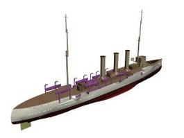 SMS Emden Königsberg class light cruiser 3d preview