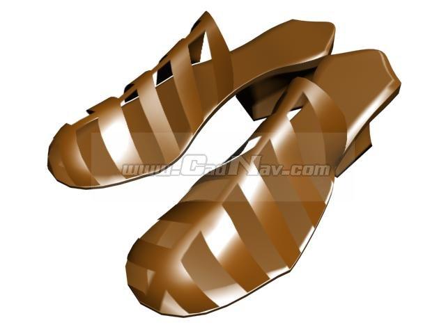 Ladies plastic sandals 3d rendering