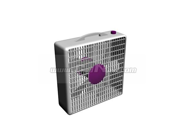 Box Fan 3d rendering