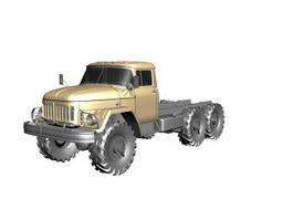 Zil 131 truck 3d model preview