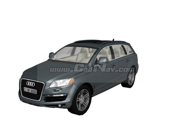 Audi Q7 Full-size crossover SUV 3d rendering