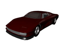 American muscle car 3d model preview