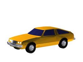 Sedan car 3d model preview