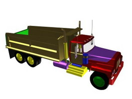 Optimus prime truck 3d preview
