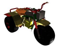 Low poly motocross bike 3d preview