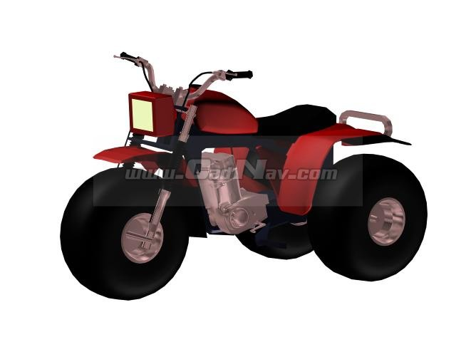 Three-wheeler ATV motocross bike 3d rendering
