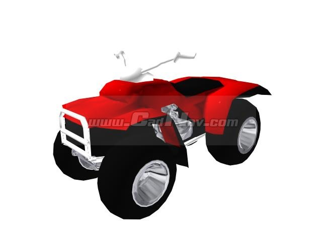 Four-wheelers ATV quad bike 3d rendering