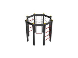 Gymnastic complex 3d model preview