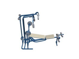 Gym bench 3d preview