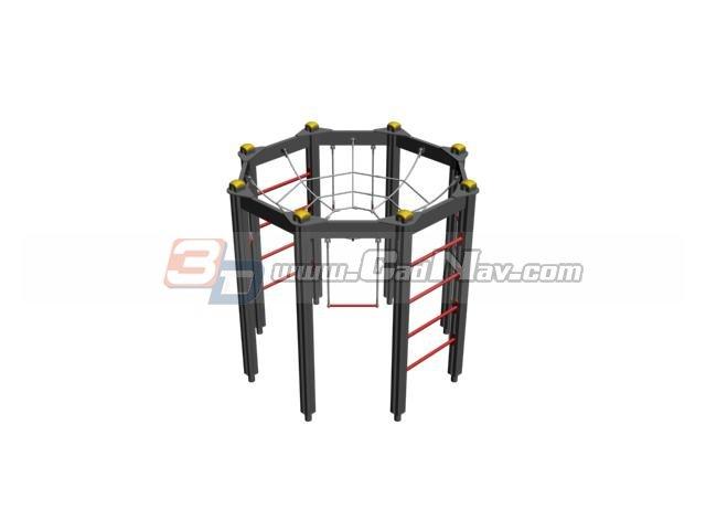 Gymnastic complex 3d rendering