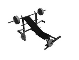 Gym Weight Bench 3d preview