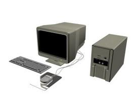 Desktop computer 3d model preview