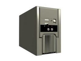 Computer host 3d model preview