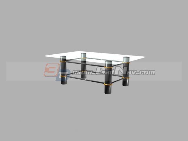 Glass Coffee Table 3d rendering