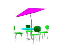 Garden Sets Plastic furniture 3d preview