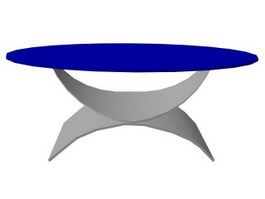 Oval cocktail table 3d preview