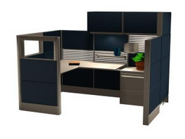 Modular Office Partition 3d model preview