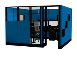 Executive Office Partition 3d model preview