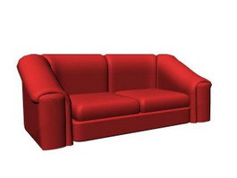 Two-seater settee 3d model preview