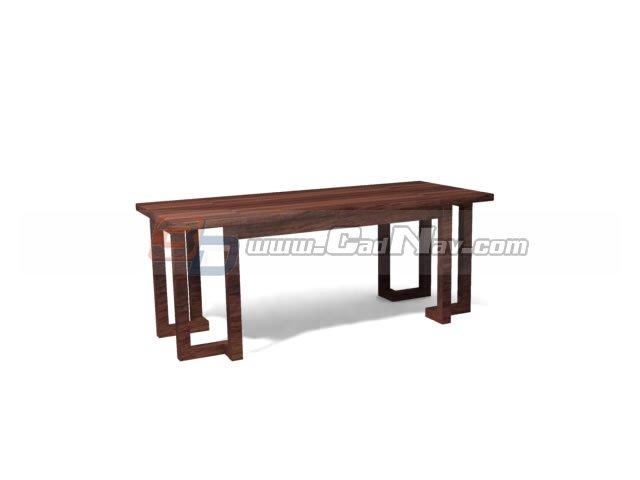 Antique Furniture tea table 3d rendering