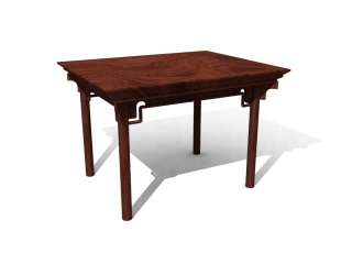 Cherry-wood kitchen table 3d preview