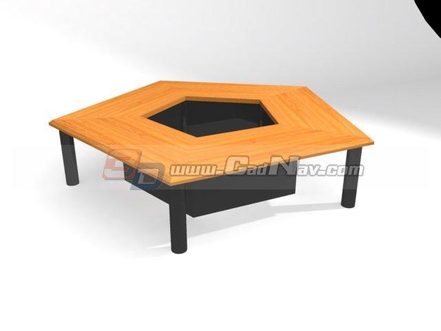 Office Meeting table 3d rendering