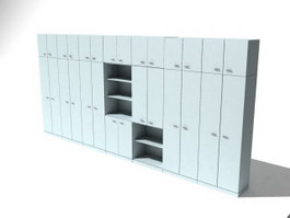 Filing Cabinets Locker 3d model preview