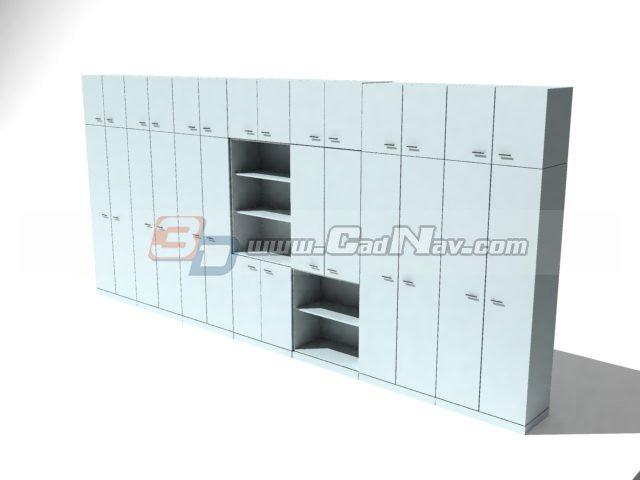 Filing Cabinets Locker 3d rendering