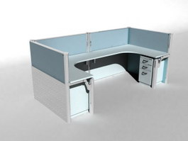 Office Screen Partition 3d model preview