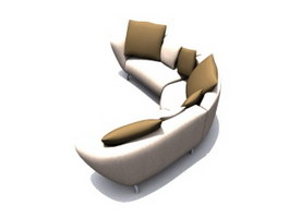 Musterring Modular Couch sofa 3d model preview
