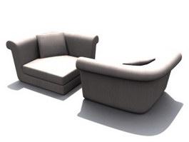 Musterring corner sofa 3d model preview