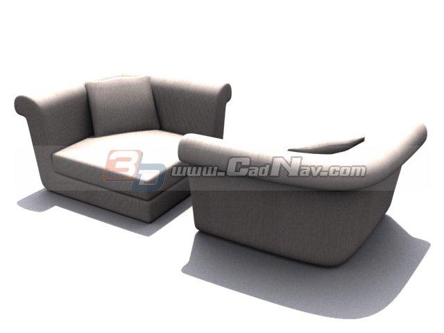 Musterring corner sofa 3d rendering