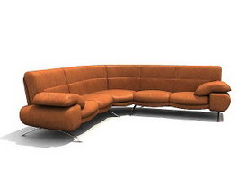Musterring Luxurious leather sofa 3d model preview