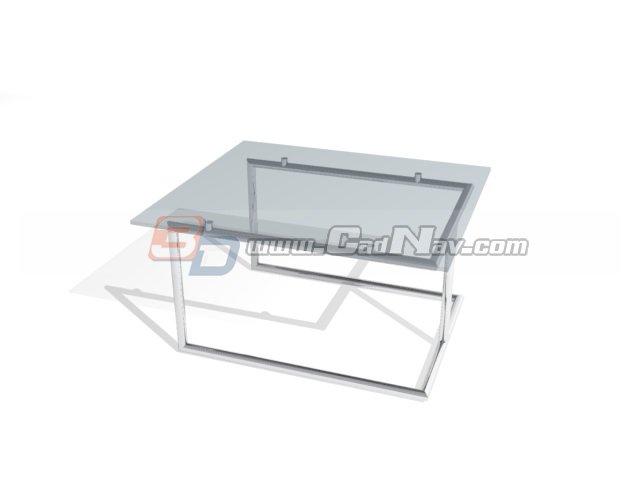 Ronald Schmitt deskcoffee table 3d rendering