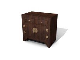 Antique Console Cabinet 3d model preview