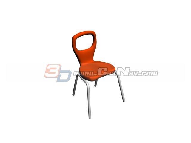 Plastic garden chair 3d rendering