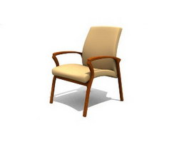 Mesh Conference Chair 3d model preview