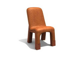 Restaurant Dining leather chair 3d preview