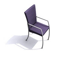 Office conference chair 3d model preview