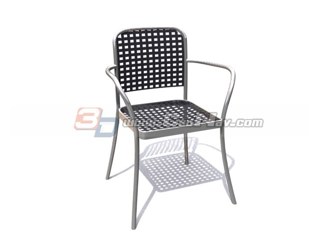 Wire Chair 3d rendering
