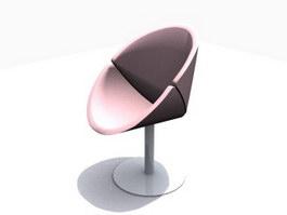 Orange slice chair 3d model preview