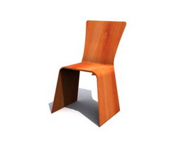 Wooden Dining Room Chair 3d model preview